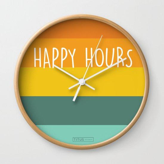 Happy Hours Wall Clock