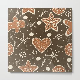 Gingerbread Metal Print