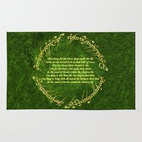 the lord of the rings Area & Throw Rugs featuring THE LORD OF THE RINGS by Bilqis
