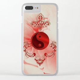 Ying und Yang, decortatives design Clear iPhone Case