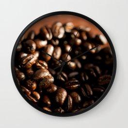 Morning roast, coffee beans Wall Clock