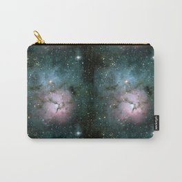Green and Pink Burst Galaxy Carry-All Pouch