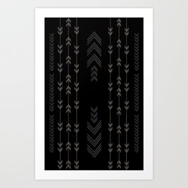Headlands Arrows Black Art Print