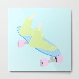 skateboarding til death Metal Print