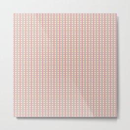 Pink, Green & Yellow Spring Abstract Pattern Metal Print