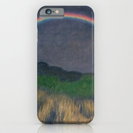Rainbow at Twilight, Wheat Fields, Auvers-sur-Oise, Frances by Franx von Struck iPhone Case