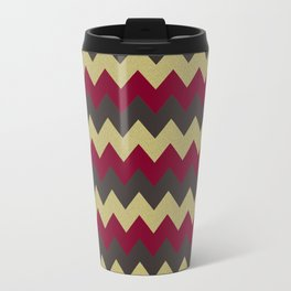 Cranberry Chevron Travel Mug