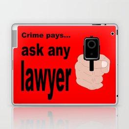 Crime Pays Laptop & iPad Skin