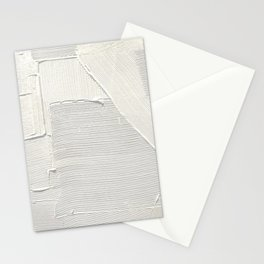 Relief [2]: an abstract, textured piece in white by Alyssa Hamilton Art Stationery Cards
