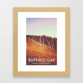 Buffalo Gap, Nebraska National Forests Framed Art Print