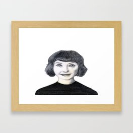 Portrait of Kimbra. Framed Art Print