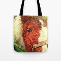 my little pony Tote Bags featuring My Little Pony by Elizabeth Wilson Photography