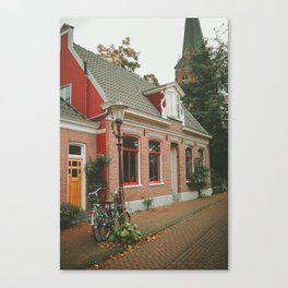 Amsterdam red house Canvas Print