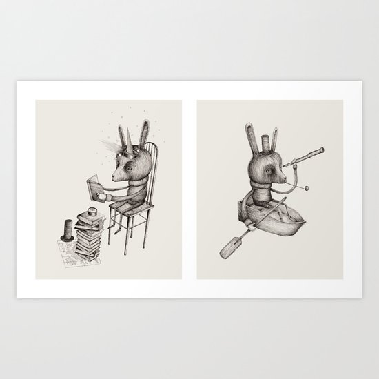 'Dreams Of Leaving' (Part 1 & 2) Art Print