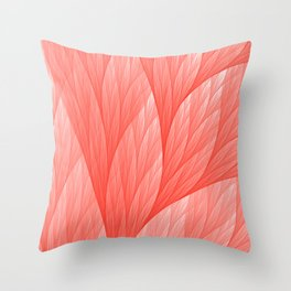 Reef Coral Living Color of the Year 2019 Abstract Pattern Fractal Fine Art Throw Pillow