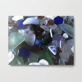 Sea Glass Assortment 4 Metal Print