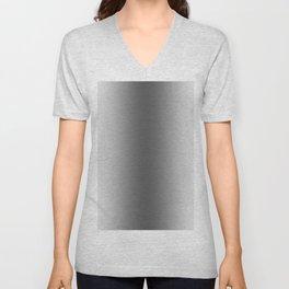 White to Black Vertical Bilinear Gradient Unisex V-Neck
