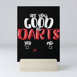 Dart Board Game Gift Idea Mini Art Print