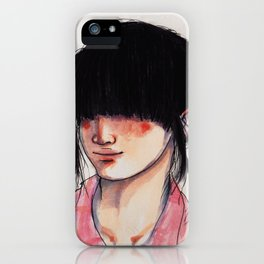 Girl with the Fringe iPhone Case