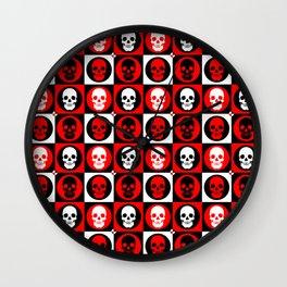 Skull Pattern | Pop Art Wall Clock