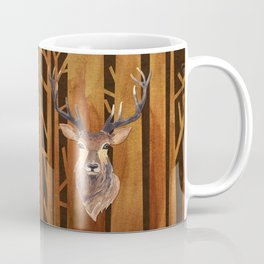 Proud deer in forest 1- Watercolor illustration Coffee Mug