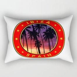 Ibiza, sunset, circle Rectangular Pillow