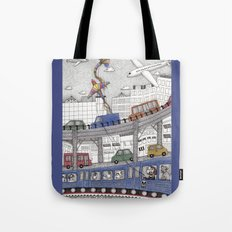 Taking the Red Line Tote Bag