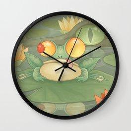 Swamp Snack Wall Clock