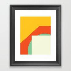 Cacho Shapes XCV Framed Art Print