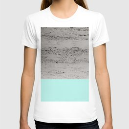 Bright Mint on Concrete #1 #decor #art #society6 T-shirt