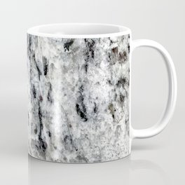Dripping Granite // Gray Black and White Speckled Rivers of Rocky Earth Texture Coffee Mug