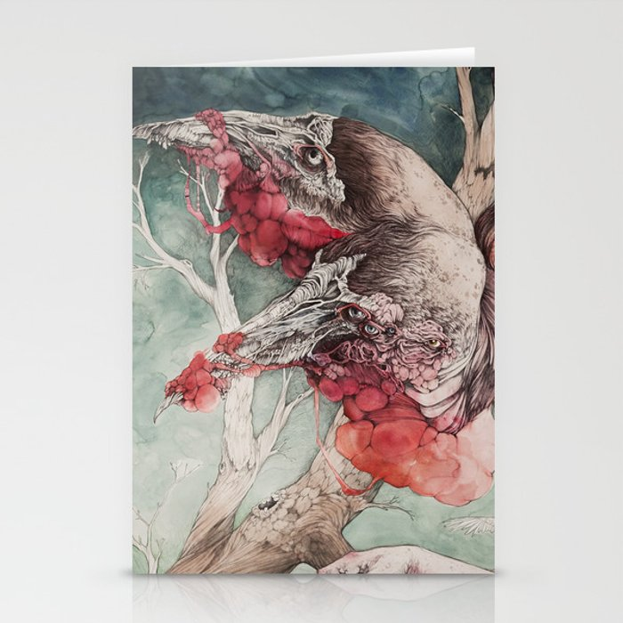 """""""Insatiable"""", as a print Stationery Cards"""