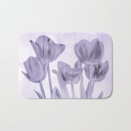 Tulips (b&w) Bath Mat