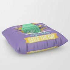 Carpe Diem - Seize the Day [green] Floor Pillow