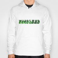 woodland Hoodies featuring Woodland by Geni