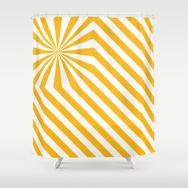 Stripes explosion - Yellow Shower Curtain
