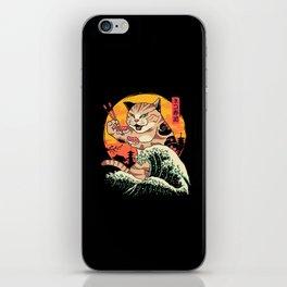 Neko Sushi Wave iPhone Skin