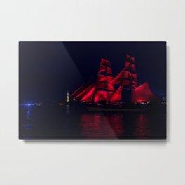 Scarlet Sails Metal Print