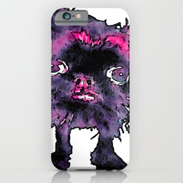 Lugga The Friendly Hairball Monster For Ghouls iPhone Case
