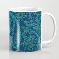 paisley Mugs featuring  paisley  by Ariadne