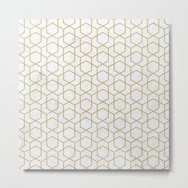 Golden Deco Golden Pattern Metal Print