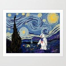 Stay Puff Night Art Print
