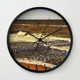 baltic see in winter Wall Clock