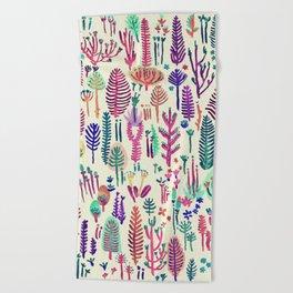 tropical poisen plants Beach Towel