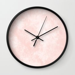 Pink Coral Marble Wall Clock