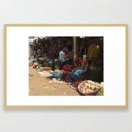 Flower Market Howrah India Framed Art Print