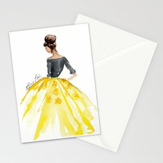 Sunny Spring Yellow Skirt Fashion Illustration Stationery Cards