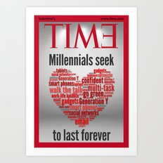 millennials seek love to last forever Art Print