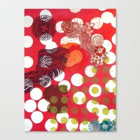 polka dot Canvas Prints featuring Polka-Dot by Liz Belen