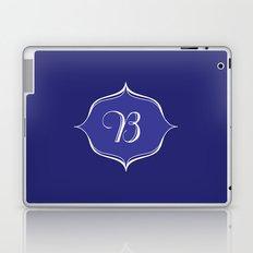 B Monogram Royal Blue Laptop & iPad Skin